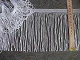Gardinen Fransenborte 15cm hoch in weiß Hochglanzgarn