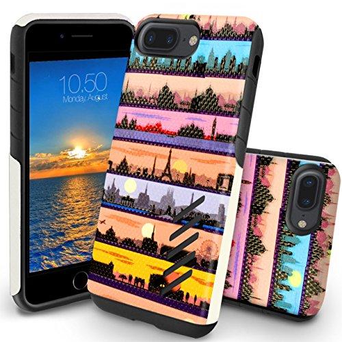 Funda iPhone 8 Plus, Orzly® Grip-Pro Case para iPhone 7 PLUS/iPhone 7 PLUS (5,5 Pulgadas Modelo Teléfono Móvil) - Funda durable y ligero Capa Doble de mayor agarre y defensa - SKYLINE EMBLEMÁTICOS