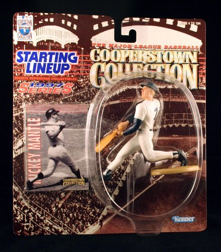MICKEY MANTLE / NEW YORK YANKEES 1997 MLB Cooperstown Collection Starting Lineup Action Figure & Exclusive Trading Card by Kenner - Mickey Mantle Yankees