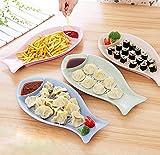 KUKI Kreative Fischgericht Knödel, Sushi-Teller, Kuchenplatte, Brotteller, kann Weizenstroh seinen Knödel Knödel Teller Teller 4pcs Trockenlegung , 0