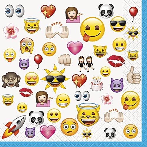 Papier Teller Themed (Unique Party 506027x 4,5Ft Kunststoff Emoji-Tischdecke _ P)