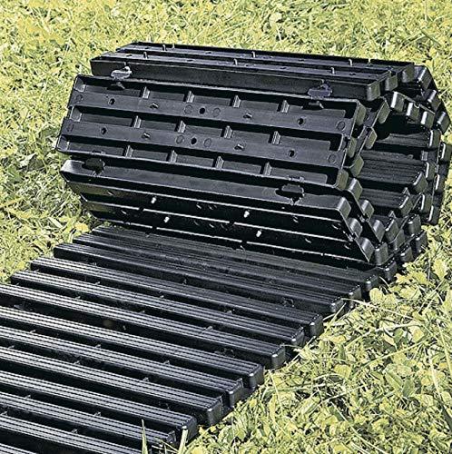UPP Rollweg Gartenplatten   Rollbares Rasengitter und Weg für Beete und Garten   Wetterfest und bis 200 kg Belastbar [1,5 m]