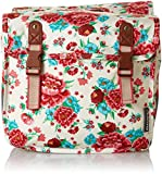 Basil Gepäckträgertasche Bloom Girls-Double Bag, Gardenia White, 31 x 12 x 27 cm, 20 Liter, 17591
