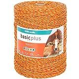 Fil de clôture électrique VOSS.farming 1000 m, 3x 0,20 acier inoxydable, jaune-orange