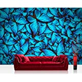 Liwwing FTVLPP-0192-350x245 - Vellón fotografía de fondo 350x245 cm - cima! premium plus fondo de pantalla! murales de papel tapiz mural de pared xxl cuadro de la pared del papel pintado wanddeko animales mariposas - naturaleza. no 192
