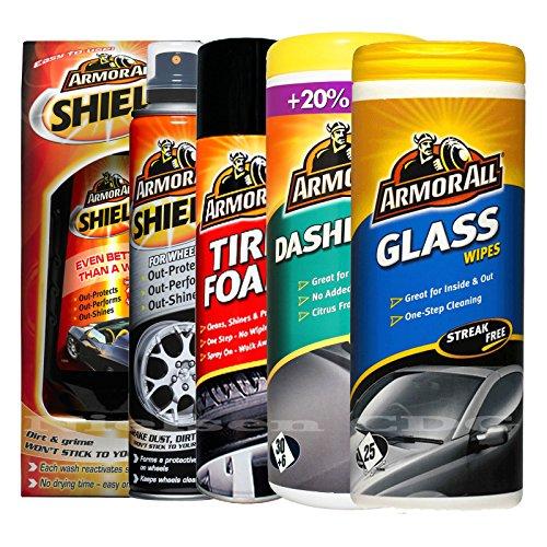 armor-all-shield-wax-wheels-tire-foam-matt-dash-wipes-and-glass-wipes
