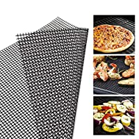 Thumbelin 1PC BBQ Grill Mesh Mat Non-Stick Cooking Mats Grilling Sheet Liner Reusable Grill Accessories Professional Barbecue Network For Use on Gas Charcoal Electric Barbecue (30 * 40CM)