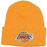 adidas NBA Herren Los Angeles Lakers Cuffed Knit Beanie Hat, Unisex Damen Jungen Herren, Gelb, Einheitsgröße