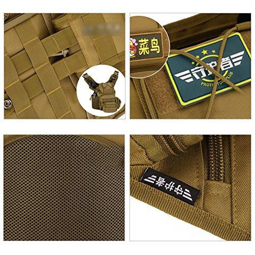 YAAGLE Satteltasche SLR Kameratasche outdoor Schultertasche Gepäck multifunktional Kuriertasche Sporttasche Schwarz