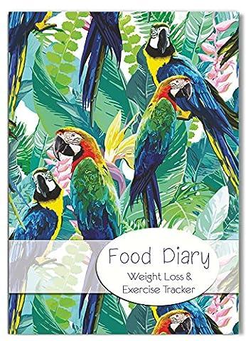 Diät-Tagebuch/Lebensmittel-Logbuch, Gewichtsreduzierung, Abnehm-Clubs, für eigenen Text (evtl. nicht in deutscher