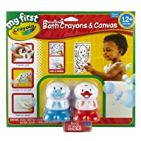 Crayola My First Crayola Washable Bath Crayons & Canvas Set-