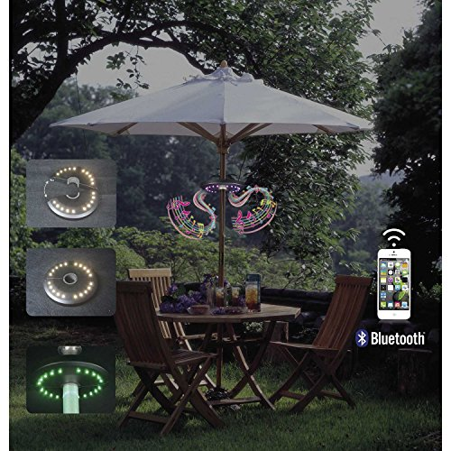 Ozalide Lautsprecher Lichterkette für Sonnenschirm - Bluetooth