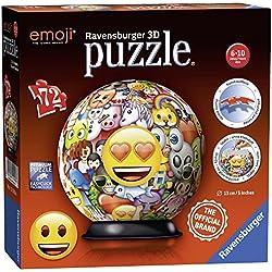 Ravensburger Puzzle Ball 3D 72 Piezas, Emoji (12198)
