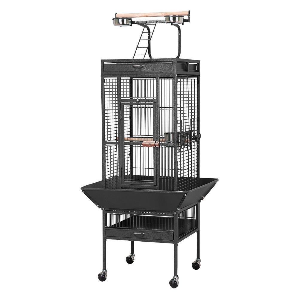 Comprar Yaheetech Jaula para Pájaros Jaulas Grandes para Canarios Loros Jaula Metal Grande 80 x 76 x 172 cm Negro - Tiendas Online Envios Baratos o Gratis
