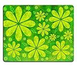Liili Mauspad Naturkautschuk Mousepad Nature Abstrakte von grünen Blättern und Blumen Bild-ID 23040858