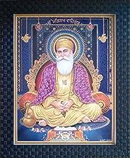 Shree Handicraft Lord Guru Nanak Dev Ji Photo Frame for Home Deco (27 cm x 33 cm x 1 cm, Acrylic Sheet Used)