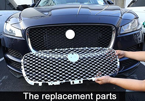 For Jag F-Pace F Pace X761 2016 2017 2018 Car ABS Front Grill Cover Trim Replacement Part