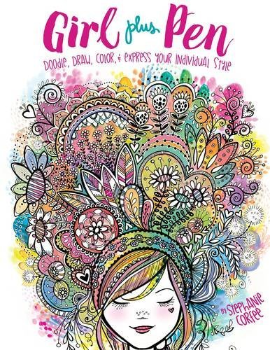 girl-plus-pen-doodle-draw-color-and-express-your-individual-style-craft-it-yourself