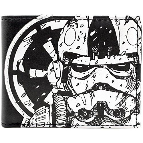 Star Wars Stormtrooper & Tie Fighter Schwarz Portemonnaie (Stormtrooper Kostüme Schwarze)