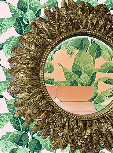Regency Antike Möbel (The Dutch Hospital Sunflower Spiegel, Antik Gold, Hollywood Regency, Starburst Spiegel, Antik Gold Bronze Sun Spiegel, Leaf Design)