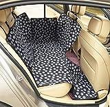 Tossi Hund Auto Seat Cover Hängematte Stil mit Seitenklappen Pet Protector Wasserdicht,Black