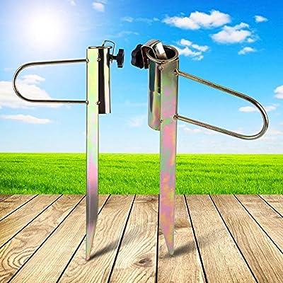 Zunate Sonnenschirmhalter,Metall Sonnenschirmständer Sonnenschirm Dorn Strand 42cm,Einstellbar Sonnenschirm Stabil Strand Garten Angeln Outdoor Sonnenschirmhalter,für Sonnenschirm, Schirmständer von Zunate bei Gartenmöbel von Du und Dein Garten