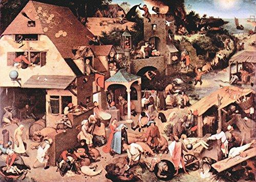 Das Museum Outlet–Die niederländischen Sprichwörter von Pieter Bruegel, gespannte Leinwand Galerie verpackt. 50,8x 71,1cm