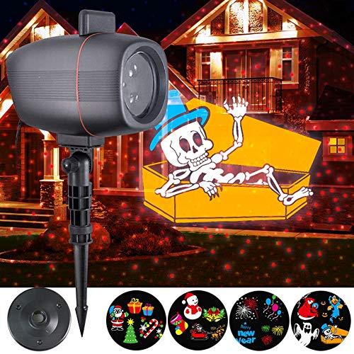 Weihnachtliche Projektorhöhen, Outdoor-Weihnachtslichter wasserdicht 4 Muster Light Show, -