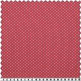 Elastic-Jersey - Kinderdruck, rot/weiß, Pünktchen, 145 cm