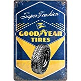 Nostalgic-Art 22267, Goodyear-Super Cushion, Blechschild 20x30 cm Cartello, Metallo, Bunt, 20 x 30 x 0.2 cm