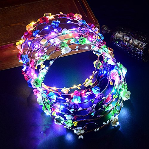 Apparel Accessories Sincere Bohemian El Led Club Party Concert Light Up Bright Flash Glowing Hairband Flexible Hair Clips For Girls