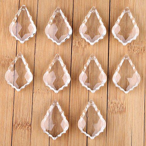 VERY100 10 pcs Pampilles de cristal K9 pour lustres pendentif éclairage