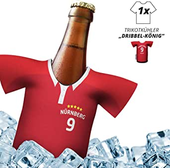 Mein Nürnberg Trikotkühler | Eiskalter Biergenuss. Jedes Spiel. Jedes Tor. Jeden Moment | Fan-Edition für Zuhause | Home-Trikot Herren Bier Flaschenkühler & Fanartikel by Ligakakao.de