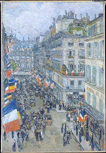 Der Museum Steckdose–Vierzehnten Juli, Rue Daunou, 1910, gespannte Leinwand Galerie verpackt. 50,8x 71,1cm