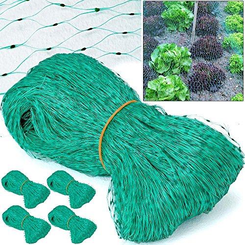 5x Vogelschutznetz Vogelnetz Laubschutznetz Gartennetz Teichabdeckung Teichnetz Teichschutz Teich Vogel Schutz Netz 100m² - 5 Stück á 4 x 5 m