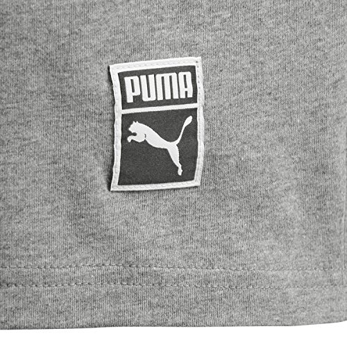 Puma Herren Archive Embossed Logo Tee T-Shirt Medium Gray Heather