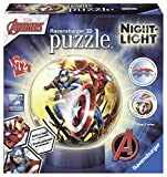 Ravensburger Italy 11798 - Marvel Avengers Puzzle 3D Ball Lampada Notturna, 72 Pezzi