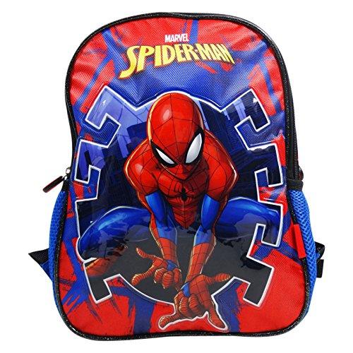 Dc comics spiderman hero - zaino double image per bambini - spallacci imbottiti - colore: multicolor