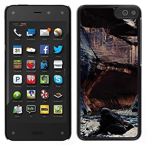 For Amazon Fire Phone , S-type® Cliffs River Nature Rocks Water - Art & Design plastica dura Guscio Protettivo Cassa Cover