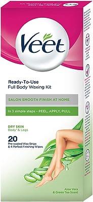 Veet Full Body Waxing Kit - Dry Skin (20 strips)