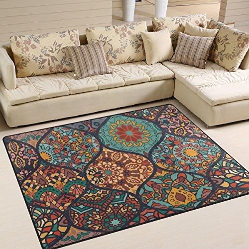 yibaihe Colorful Marokkanischer Stil Muster bedruckt Gro?e Fl?che Teppiche, leicht rutschfeste antistatisch Boden Teppich f¨¹r Wohnzimmer Schlafzimmer Home