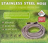 STAINLESS STREEL GARDEN HOSE PIPE 25FT LONG,DURABLE,KING FREE,HEAVY DUTY, FLEXIBLE,KIND RESISTANT,PUNCTURE PROOF,WEATER PROOF