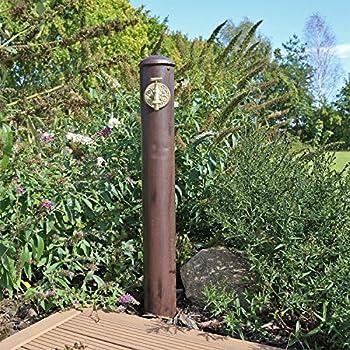 zeitzone Wasserzapfs/äule Wasserzapfstelle f/ür Garten Standbrunnen Antik-Stil Braun 85cm