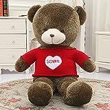 VERCART knuddeliger Plüschtiere Plüsch Sweetheart Teddybär-Spielzeug-Puppe mit Liebes-Strickjacke