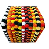 Sphinx artificial marigold fluffy flowers garlands for decoration - 5 pieces (Assorted.)