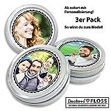 Personalisierte DOCTORS FLOSS, Zahnseide, mit Foto, Geschenk für Frauen und Männer, Geschenkidee, 3 x 100m in Retro Dose
