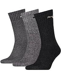 PUMA Unisex Crew Socks Socken Sportsocken MIT FROTTEESOHLE 18er Pack (Anthrazit/Grau, 43-46)