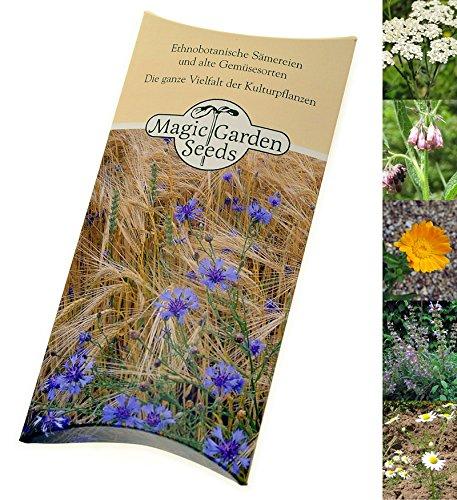 """Saatgut Set: """"Bekannte nützliche Heilpflanzen"""", Samen zur Anzucht für 5 traditionelle Arzneipflanzen in schöner Geschenkverpackung"""