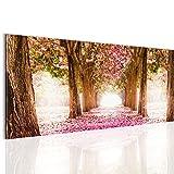 Bilder 100 x 40 cm - Wald Allee Bild -