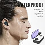 Wireless Headphones Bluetooth, Lesoom True Wireless Earbuds with Mic in Ear Earphone Waterproof Hi-Fi Stereo Headset Noise Cancelling Earpiece for Sport Running iPad iPhone X 8 7s 7 (2018 Upgraded) from Lesoom